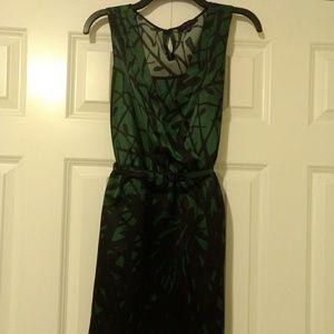 Gorgeous Green/Black Sheath Dress, The Limited